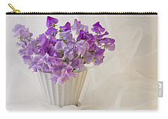 Lavender Sweet Peas And Chiffon Carry-all Pouch by Sandra Foster