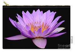 Lavender Tropical Day Lily Carry-all Pouch