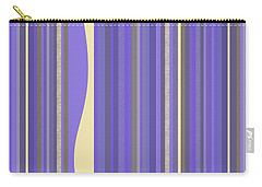 Carry-all Pouch featuring the digital art Lavender Twilight - Stripes by Val Arie