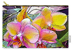 Lavender / Yellow  Carry-all Pouch by Don Wright