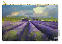 Lavenders Of South Carry-all Pouch by Dragica Micki Fortuna