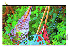 Carry-all Pouch featuring the photograph Lawn Tools by Tom Singleton