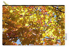 Carry-all Pouch featuring the photograph Layers Of Autumn by Corinne Rhode