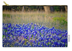 Carry-all Pouch featuring the photograph Layers Of Blue by Linda Unger