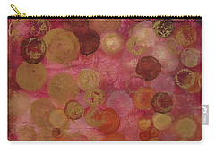 Layers Of Circles On Red Carry-all Pouch by Kristen Abrahamson