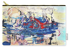 Laziness - Large Bright Pastel Abstract Art Carry-all Pouch