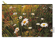 Lazy Days Daisies Carry-all Pouch by Karen Horn