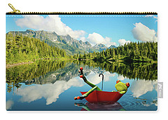 Carry-all Pouch featuring the digital art Lazy Days by Nathan Wright