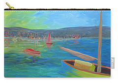 Carry-all Pouch featuring the painting Lazy Summer by Barbara McDevitt