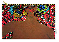 Carry-all Pouch featuring the tapestry - textile Le Grande Madame by Apanaki Temitayo M