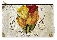Le Jardin Tulipes Carry-all Pouch by Mindy Sommers