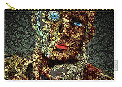 Carry-all Pouch featuring the digital art Le Penseur  by Aimelle