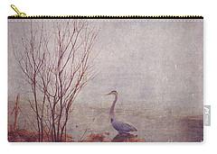 Carry-all Pouch featuring the photograph Le Retour De Mon Heron by Aimelle