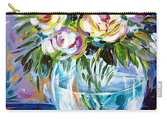 Carry-all Pouch featuring the painting Le Rose Bianche by Roberto Gagliardi