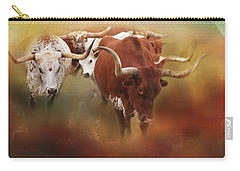 Carry-all Pouch featuring the photograph Leading The Herd by Toni Hopper