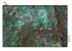 Carry-all Pouch featuring the photograph Leaf And Rock Composite 3 by Elaine Teague