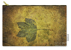 Carry-all Pouch featuring the digital art Leaf In Mud One by Randy Steele