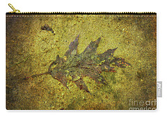 Carry-all Pouch featuring the digital art Leaf In Mud Two by Randy Steele
