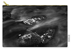 Leaf Island In Black And White Carry-all Pouch