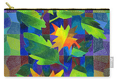 Leaf Mosaic Drawing Carry-all Pouch