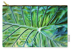 Leaf Pattern Carry-all Pouch by Teresa Zieba