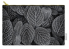 Carry-all Pouch featuring the photograph Leaf Pattern by Wayne Sherriff