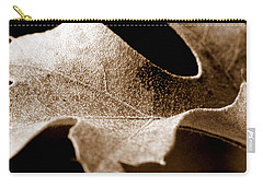 Leaf Study In Sepia Carry-all Pouch by Lauren Radke