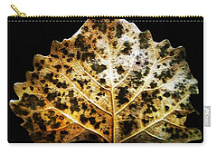 Leaf With Green Spots Carry-all Pouch by Joseph Frank Baraba