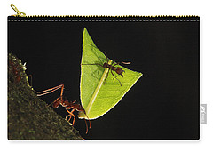 Leafcutter Ant Atta Sp Carrying Leaf Carry-all Pouch by Cyril Ruoso
