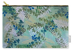 Leafy Floor Cloth Carry-all Pouch by Judith Espinoza