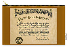 League Of Honest Coffee Lovers Certificate Carry-all Pouch