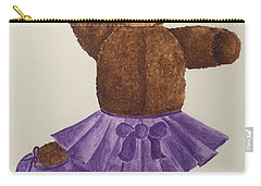 Carry-all Pouch featuring the painting Leah's Ballerina Bear 1 by Tamir Barkan