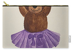 Carry-all Pouch featuring the painting Leah's Ballerina Bear 3 by Tamir Barkan
