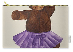 Carry-all Pouch featuring the painting Leah's Ballerina Bear 4 by Tamir Barkan