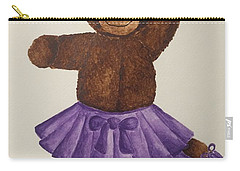 Carry-all Pouch featuring the painting Leah's Ballerina Bear 5 by Tamir Barkan