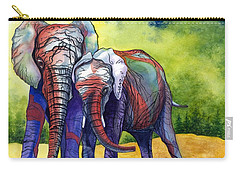 Carry-all Pouch featuring the painting Lean On Me by Barbara Jewell