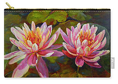 Carry-all Pouch featuring the painting Lean On Me by Chris Brandley