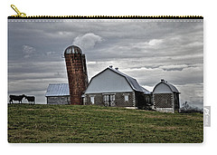 Carry-all Pouch featuring the photograph Lean On Me by Robert Geary