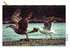 Carry-all Pouch featuring the photograph Leaning Into The Wind by Adria Trail