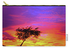 Leaning Tree At Sunset Carry-all Pouch