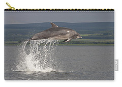 Leaping Bottlenose Dolphin  - Scotland #39 Carry-all Pouch