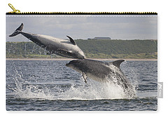 Leaping Bottlenose Dolphins - Scotland  #38 Carry-all Pouch