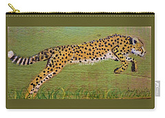 Leaping Cheetah Carry-all Pouch