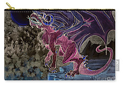 Carry-all Pouch featuring the mixed media Leaping Dragon 2 by Reed Novotny