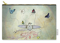 Carry-all Pouch featuring the digital art Learning To Fly by Sue Collura