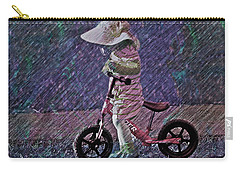 Learning To Ride Carry-all Pouch by Suzanne Stout