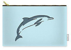 leather Dolphin Carry-all Pouch