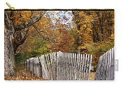 Leaves Along The Fence Carry-all Pouch by Lois Lepisto