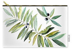 Carry-all Pouch featuring the painting Leaves And Berries by Laurie Rohner