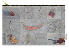 Carry-all Pouch featuring the photograph Leaves And Cracks Collage by Ben and Raisa Gertsberg